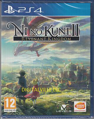 Ni No Kuni II 2 Revenant Kingdom PS4 PlayStation 4 Brand New Factory Sealed