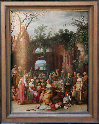 WILLEM VAN NIEULANDT II 17thC DUTCH OLD MASTER ART RELIGIOUS OIL PAINTING JEWISH