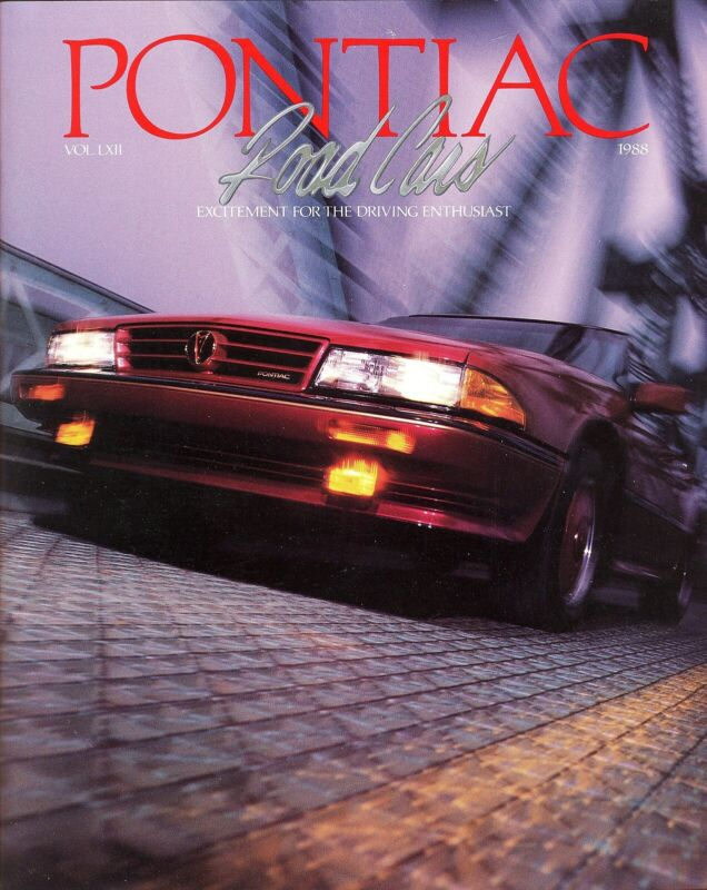 1988 Pontiac Firebird Grand Am Fiero Bonneville 72 Page Deluxe FL Sales Brochure