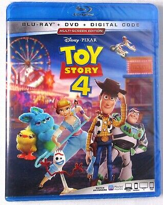 TOY STORY 4 (Blu-ray + DVD + Digital, NO Slipcover) >NEW< Disney Pixar