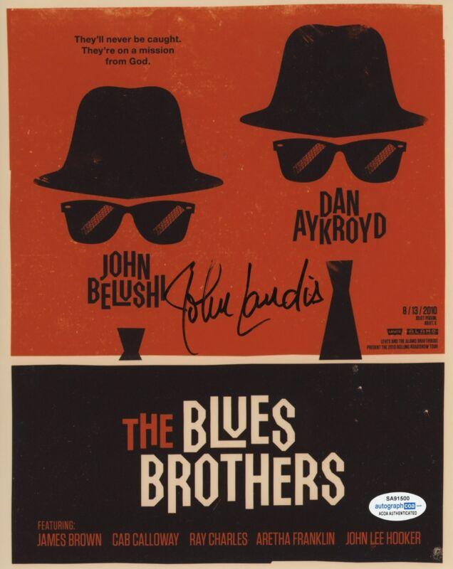 JOHN LANDIS SIGNED THE BLUES BROTHERS 8X10 PHOTO 4 ACOA