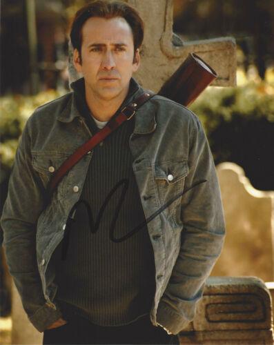 NICOLAS CAGE HAND SIGNED 'NATIONAL TREASURE 2' 8x10 PHOTO w/COA NIC ACTOR PROOF