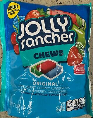 NEW JOLLY RANCHER CHEWS ORIGINAL FLAVORS 13 OZ BAG CANDY FREE WORLD - Jolly Rancher Chews