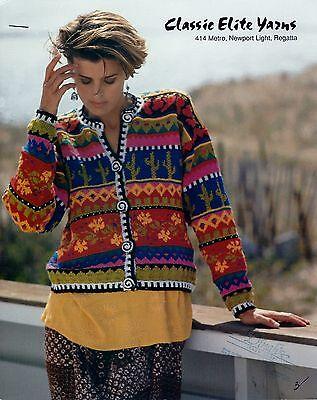 - Set of 6 Classic Elite Yarns Knitting Patterns -  Pomo Spice Cardigan +