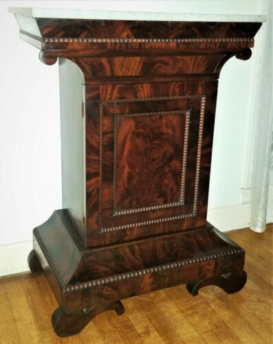 """SERVER, mixing table, ham table, c1840 classical Empire, mahogany, 38""""t"""