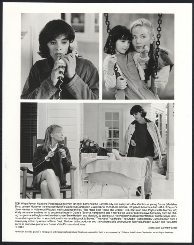 The Hand That Rocks The Cradle '92 REBECCA DE MORNAY MADELINE ZIMA