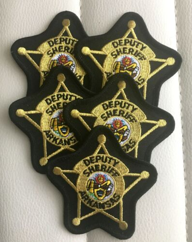 """(5) ARKANSAS DEPUTY SHERIFF 3"""" PATCHES PATCH UNUSED"""