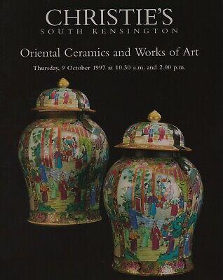 ORIENTAL CERAMICS WORKS OF ART METALWARE JADE POTTERY AUCTION CATALOGUE