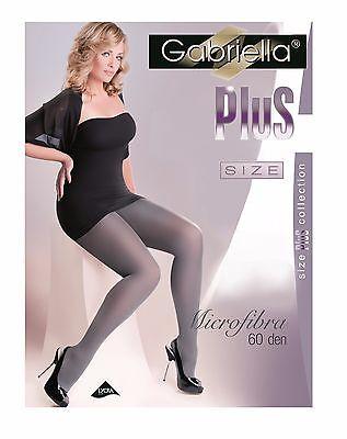 Gabriella Plus Size 60 DEN blickdicht Große Strumpfhose Microfaser ()