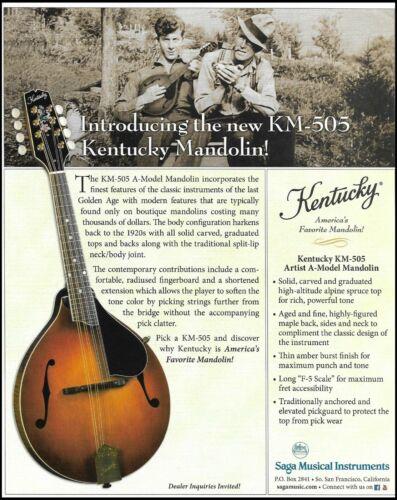 Kentucky KM-505 Artist A-Model Mandolin guitar ad 2019 advertisement print