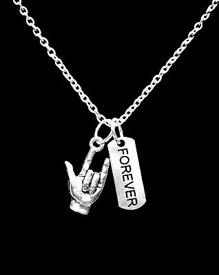 Necklace Sign Language I Love You Hand Forever Christmas Gift Charm