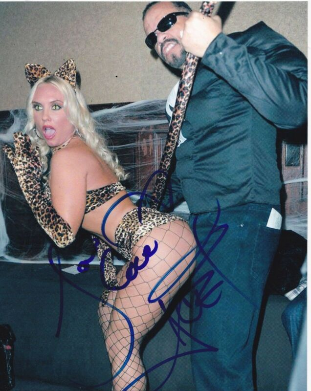 ICE-T AND COCO SIGNED 8X10 PHOTO HOT SEXY AUTHENTIC AUTOGRAPH LAW AND ORDER COA