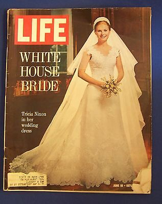 Life Magazine June 18 1971 Tricia Nixon Wedding Vida Blue Color Car Ads