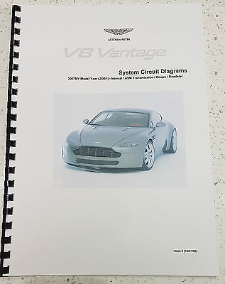 ASTON MARTIN V8 VANTAGE ELECTRICAL WIRING CIRCUIT DIAGRAMS MANUAL 2006 - 2007