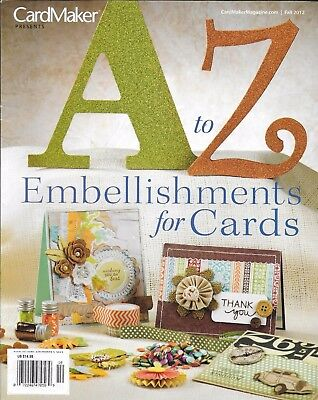 Cardmaker A To Z Magazine Card Embellishments Christmas Birthday Party Baby - Party Magazines