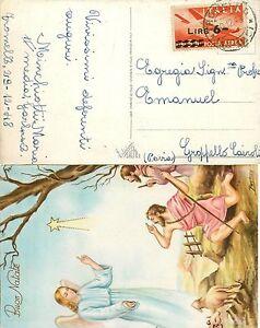 1643-Repubblica-6-lire-posta-aerea-su-cartolina-per-Gropello-Cairoli-Pavia