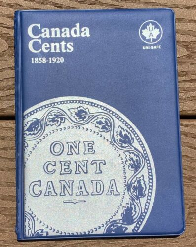 CANADA LARGE CENTS 1858 - 1920 - DATE ALBUM (UNITRA)  WITH 32 COINS