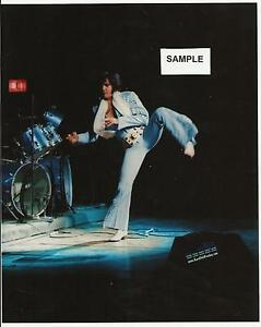 Elvis Presley-  8 x 10 Photo Performing Karate On Stage April 1972 & FREE CD!