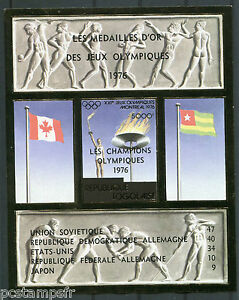 togo 1976 bloc timbres jeux olympique medailles d or non dentele neuf ebay. Black Bedroom Furniture Sets. Home Design Ideas