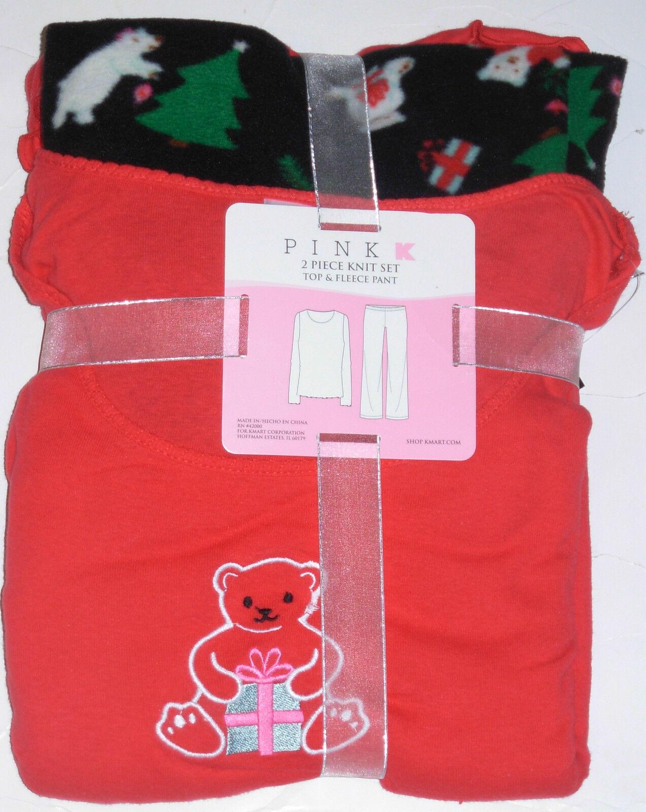 Teddy Bear 2pc Pajama Set, Size Large, W/tag
