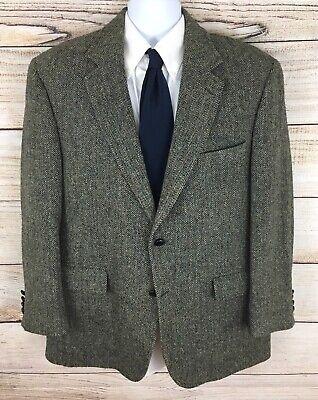 Jos. A Bank Men's Harris Tweed Herringbone Multi Color Fleck Sport Coat Size 44R