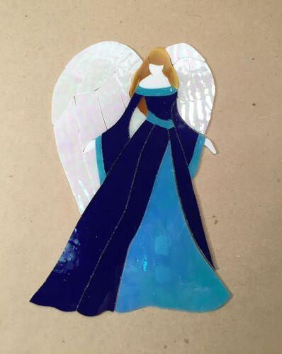 Precut Stained Glass Art Kit Angel Mosaic Inlay Garden Stone