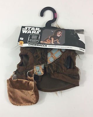 Star Wars Chewbacca Dog Costume XS NWT Hooded Disney Fluffy Brown Puppy
