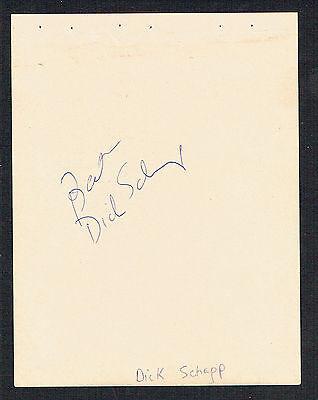 Dick Schaap (D.2001) & Jack Klugman (D.2012) Autografo Firmato 4x5 Album Pagina (Jack Schaap)