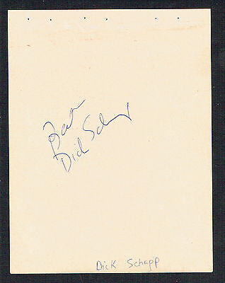 Dick Schaap (d. 2001) &  Jack Klugman (d. 2012) signed autograph 4x5 Album Page (Jack Schaap)