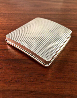 NORWEGIAN 830S SOLID SILVER CURVED CIGARETTE CASE: ART DECO STYLE