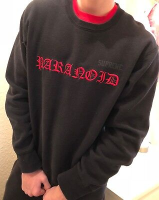 supreme pullover paranoid large