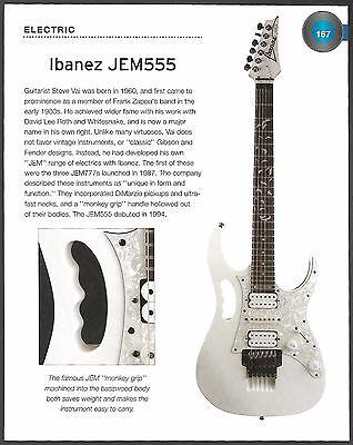Ibanez Steve Vai 1994 JEM-555 + Jackson KVX10 King V guitar 6 x 8 article pin-up for sale  Flint
