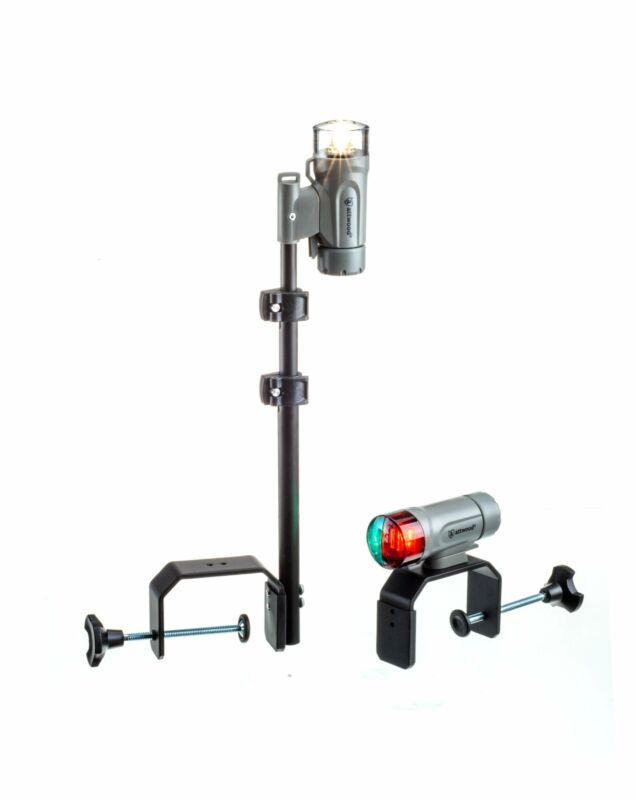 attwood 14194-7 Portable LED Boat Navigation Light Kit - Marine Gray - Clamp-On