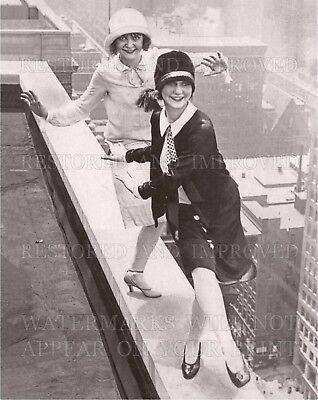 16x20 photo: Flapper girls dance Charleston on Chicago rooftop 1926, Roaring - 20s Flapper Girls
