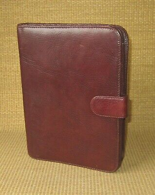 Classic Wilsons Brown Fine Leather 1 Rings Plannerbinder Folio Cover Notepad