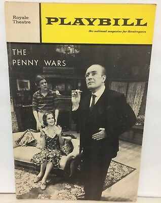 Oct. 1969 THE PENNY WARS Elliot Baker KIM HUNTER GEORGE VOSKOVEC Royal Theatre