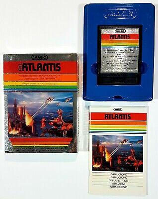 Imagic / Atari Vcs Game Atlantis Pal Boxed 1982 D. Koble H-Shooter/Shmup /