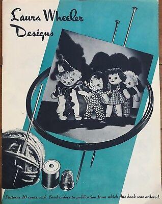 Vintage Laura Wheeler Designs Patterns CATALOG of Towels, Needle Arts, Linens ++