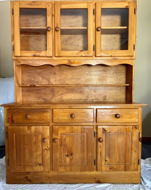 Solid Wood Kitchen Hutch and Buffet   Buffets & Side ...