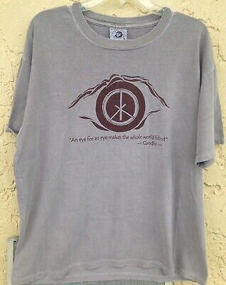 Gandhi An Eye For An Eye Makes The Whole World Blind T Shirt Size