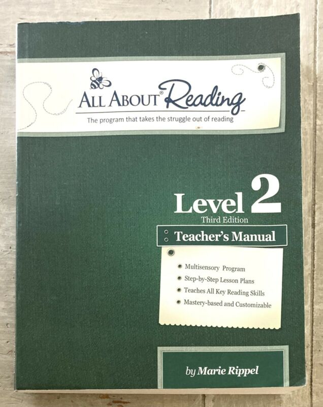 All About Reading Level 2 - Teacher's Manual By Marie Ripple. Third Edition