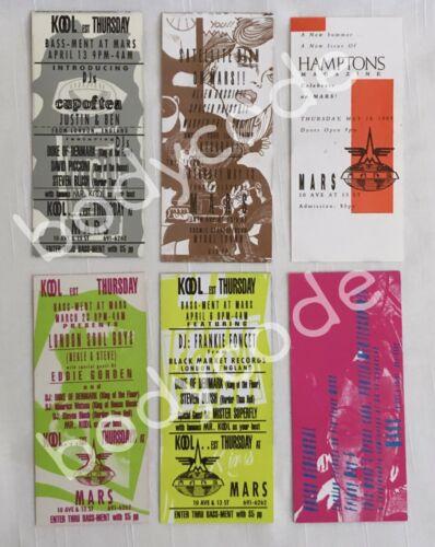 Vintage NYC Nightclub MARS Party Invites Lot of 6 Invitations 1989