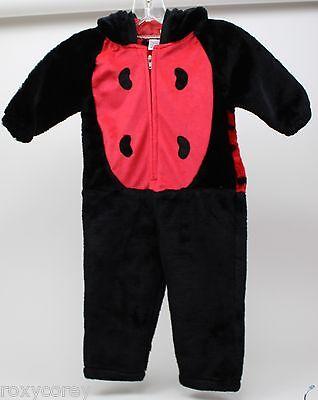 Halloween Infant Warm Ladybug Plushy Costume Size 24 Months NWOT