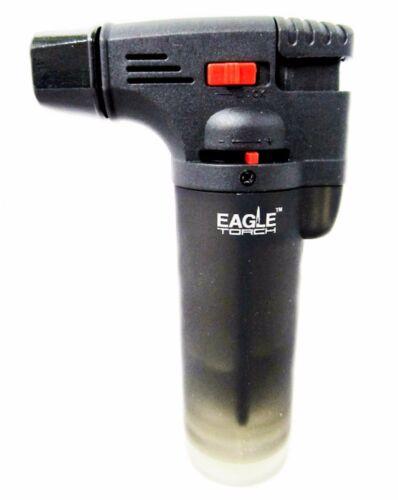 Eagle Jet Torch Gun Lighter Adjustable Flame Windproof Butane Refillable - BLACK