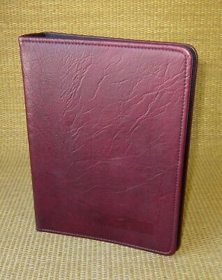 Classicdesk 1 Ring Burgundy Sim. Leather Day-timer Open Plannerbinder