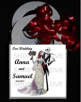 Personalized Wedding Favor Boxes (Nightmare before christmas 12 Personalized Wedding Favor small Boxes)