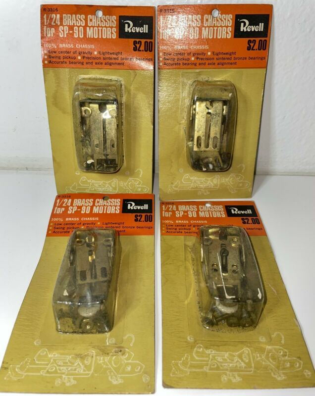 4-Vintage Revell 1/24 Brass Chassis For SP-90 Motors