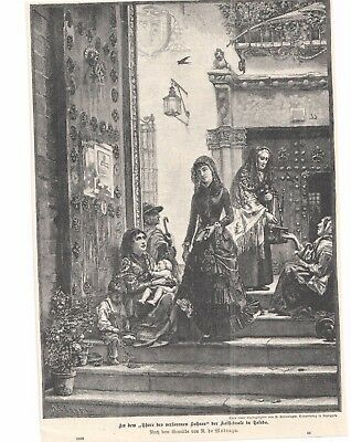 MADRAZO - Kathedrale von TOLEDO  -  old print -  alter  Druck - Illustration