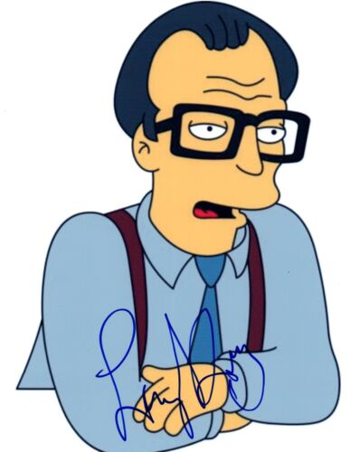 Larry King Signed Autographed 8x10 Photo TV HOST The Simpsons Pose COA