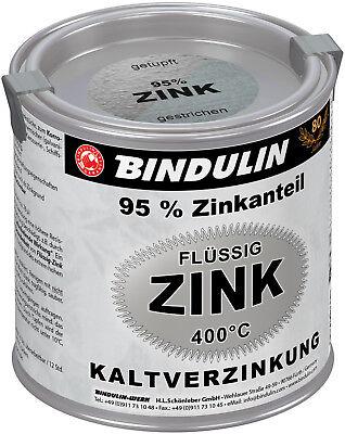 Bindulin Flüssig-Zink silber 250ml Dose, Zink-Ausbesserungsfarbe, 95% Zinkanteil 250 Ml-dose
